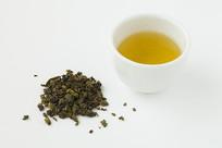 铁观音茶汤菜叶