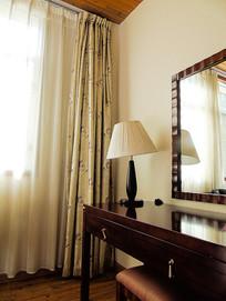 酒店灯具窗帘摄影