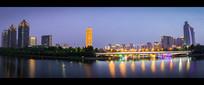 郑州市龙湖夜景高清图