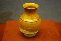 辽代黄釉罐
