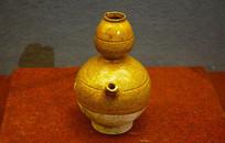 辽代黄釉葫芦形执壶