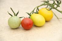红绿黄小西红柿