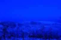 蓝月林海雪原雾凇景观