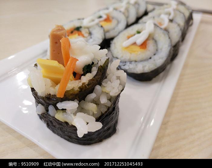 可口的寿司图片
