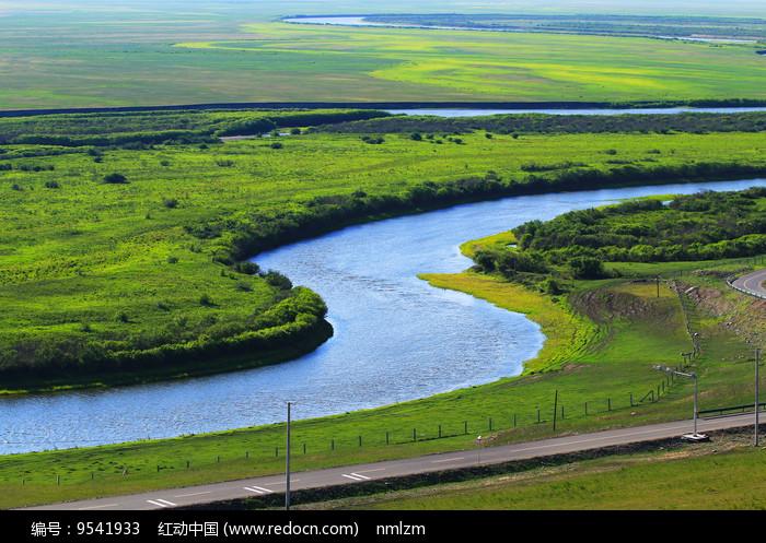 牧场河湾 图片
