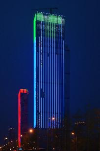 维多利亚公馆瞰海公寓蓝色夜景
