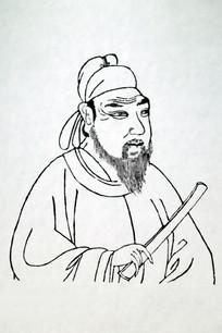 孔颖达黑白画