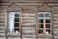 俄式木刻楞老房木刻窗棂