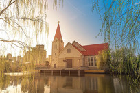 李沧基督教堂建筑摄影