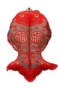 双鱼福字装饰挂件