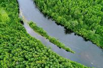 大兴安岭原始森林阿巴河小岛