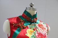 旗袍上的蝴蝶型盘扣