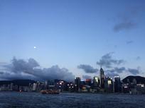 香港中环夜空
