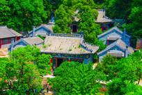 千山龙泉寺建筑群俯视图