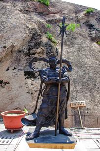 龙泉寺(蛇)珊底罗大将雕像