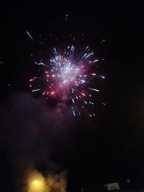 夜晚的烟花摄影