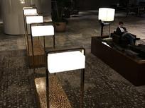 宾馆大堂方型灯具