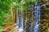 千山明潭瀑布流水