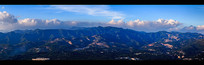 嵩山远观全景图