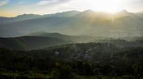 早晨的乡村风景图