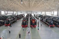 北京火车博物馆火车车头大厅