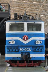 蓝色电气火车头