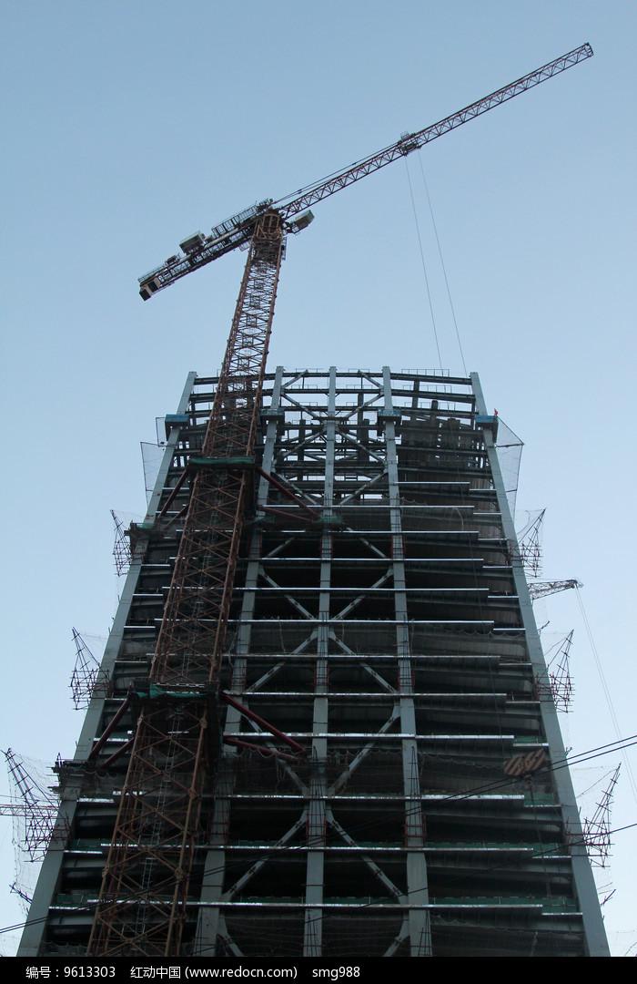 丽泽商务区在建钢架大厦图片