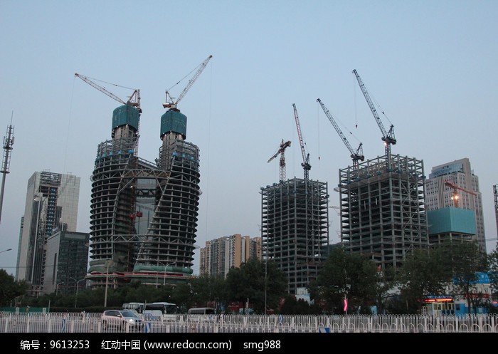 丽泽商务区在建群楼图片