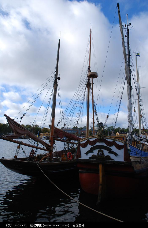 斯德哥尔摩游艇靠岸图片