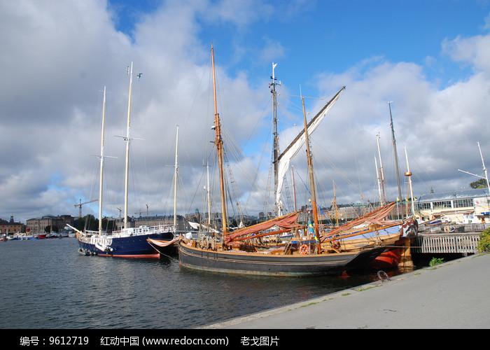 斯德哥尔摩游艇桅杆图片