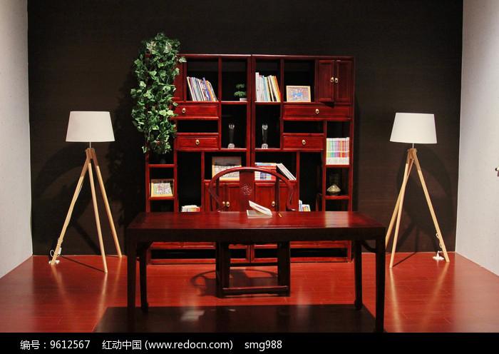 中式红木书书房家具图片