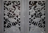 重庆磁器口宝轮寺中式木窗
