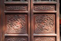 重庆磁器口宝轮寺中式木门