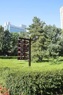 公园指路牌