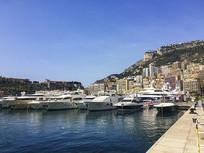 蓝色海港码头