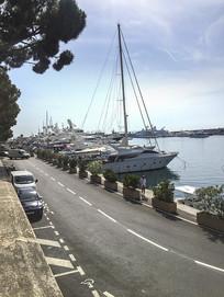 欧洲海港景色
