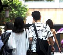 南京情侣背影