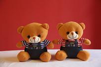 可爱的小熊毛绒玩具