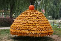 南瓜顶的玉米垛