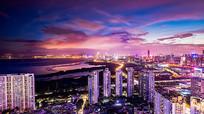 彩云城市夜景