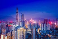 罗湖区京基帝王周围的城市夜景