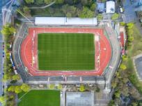 航空俯拍足球场