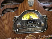 老式唱片机特写