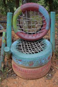 复古轮胎艺术摄影