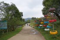 公园小道摄影