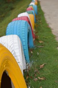 五彩缤纷轮胎