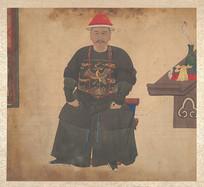 清佚名官员肖像画