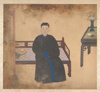 清佚名女性肖像画