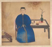 清佚名肖像册-清朝妇人