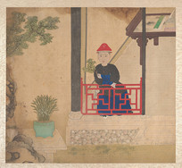 清佚名肖像册-清朝人物